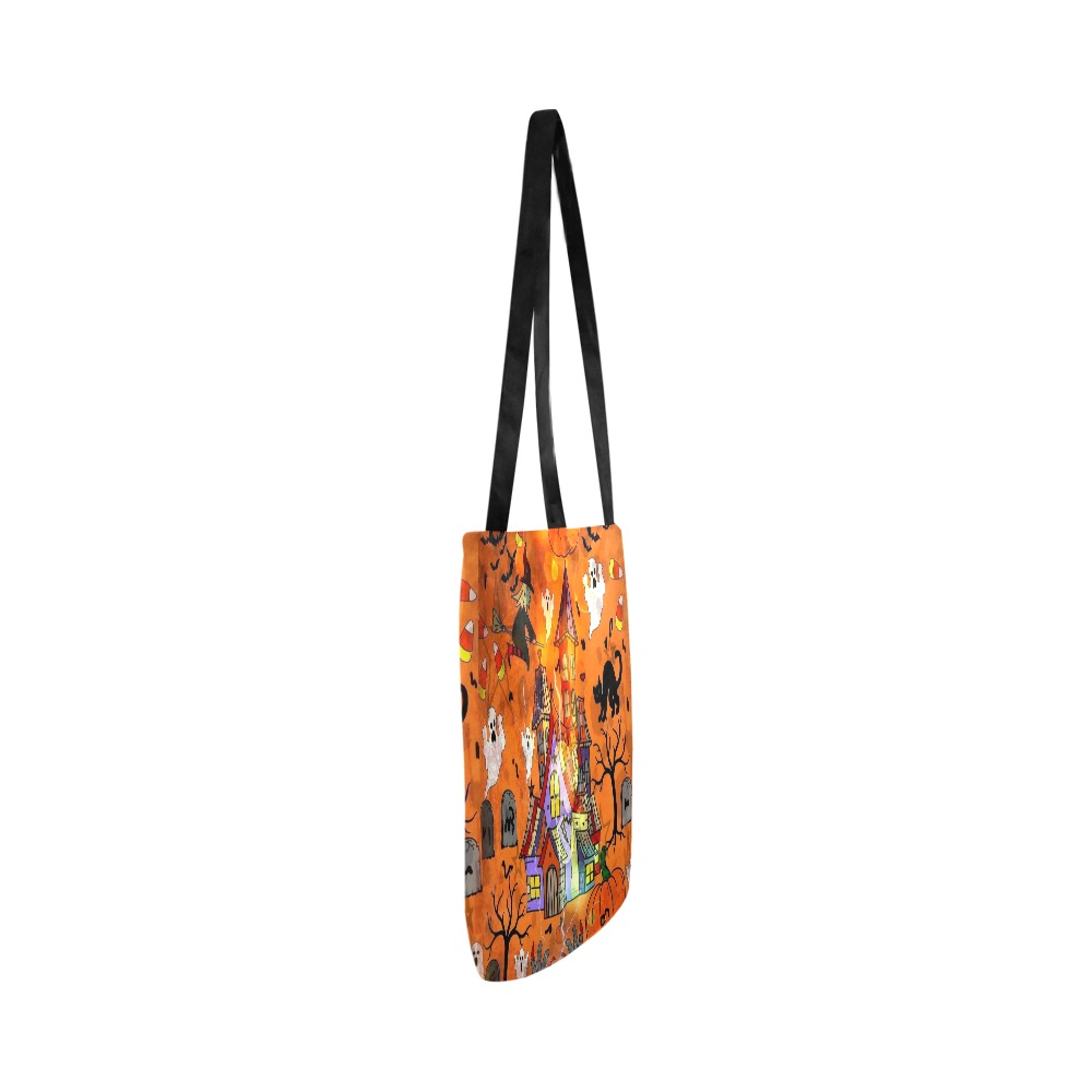 Candy Bag Halloween 2021 Pop Art by Nico Bielow Reusable Shopping Bag Model 1660 (Two sides)