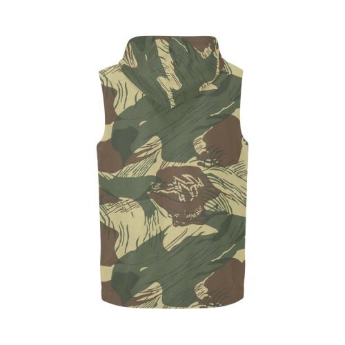 Rhodesian Brushstroke Light CAMO All Over Print Sleeveless Zip Up Hoodie for Men (Model H16)