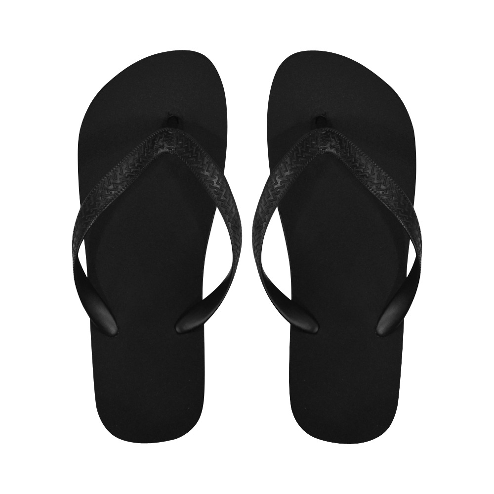 Black Feet Flip Flops for Men/Women (Model 040)