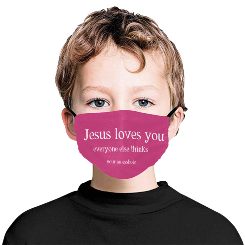 Jesus loves you Flat Mouth Mask with Drawstring