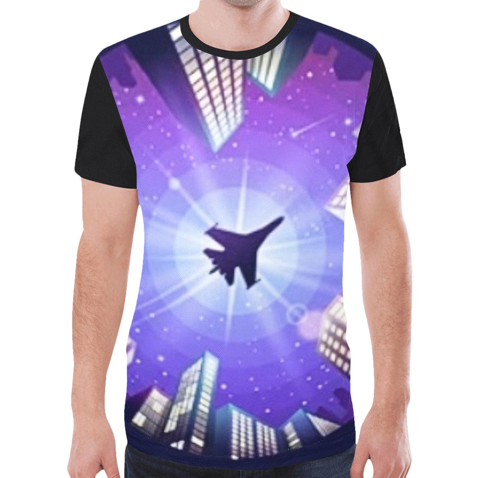 Fighter Jet New All Over Print T-shirt for Men (Model T45)