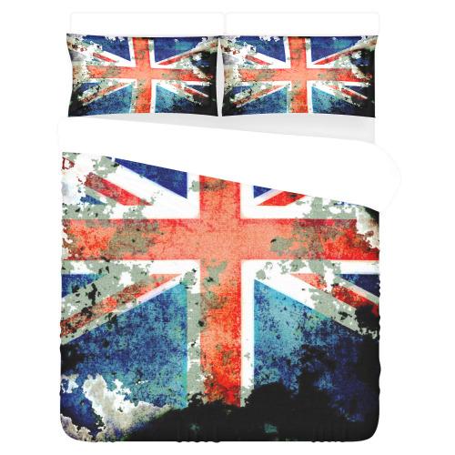 Extreme Grunge Union Jack Flag 3-Piece Bedding Set