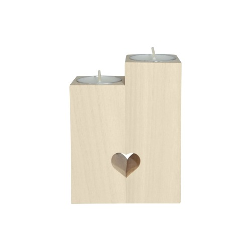 Rippled Cloud Collection Wooden Candle Holder (Without Candle)