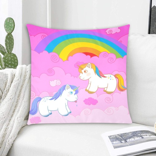 """Unicorn 3 Custom Zippered Pillow Cases 20""""x20"""" (Two Sides)"""