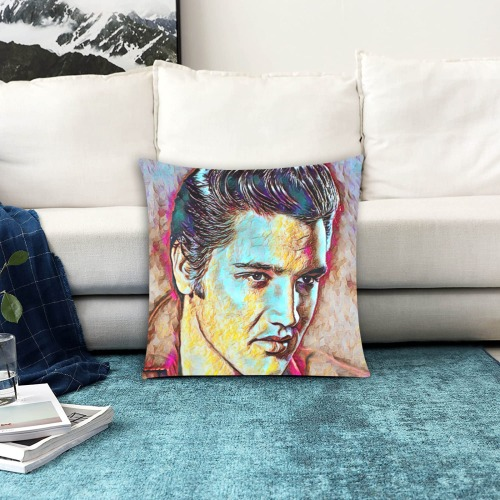 """The King. Elvis Presley Custom Zippered Pillow Cases 18""""x18"""" (Two Sides)"""