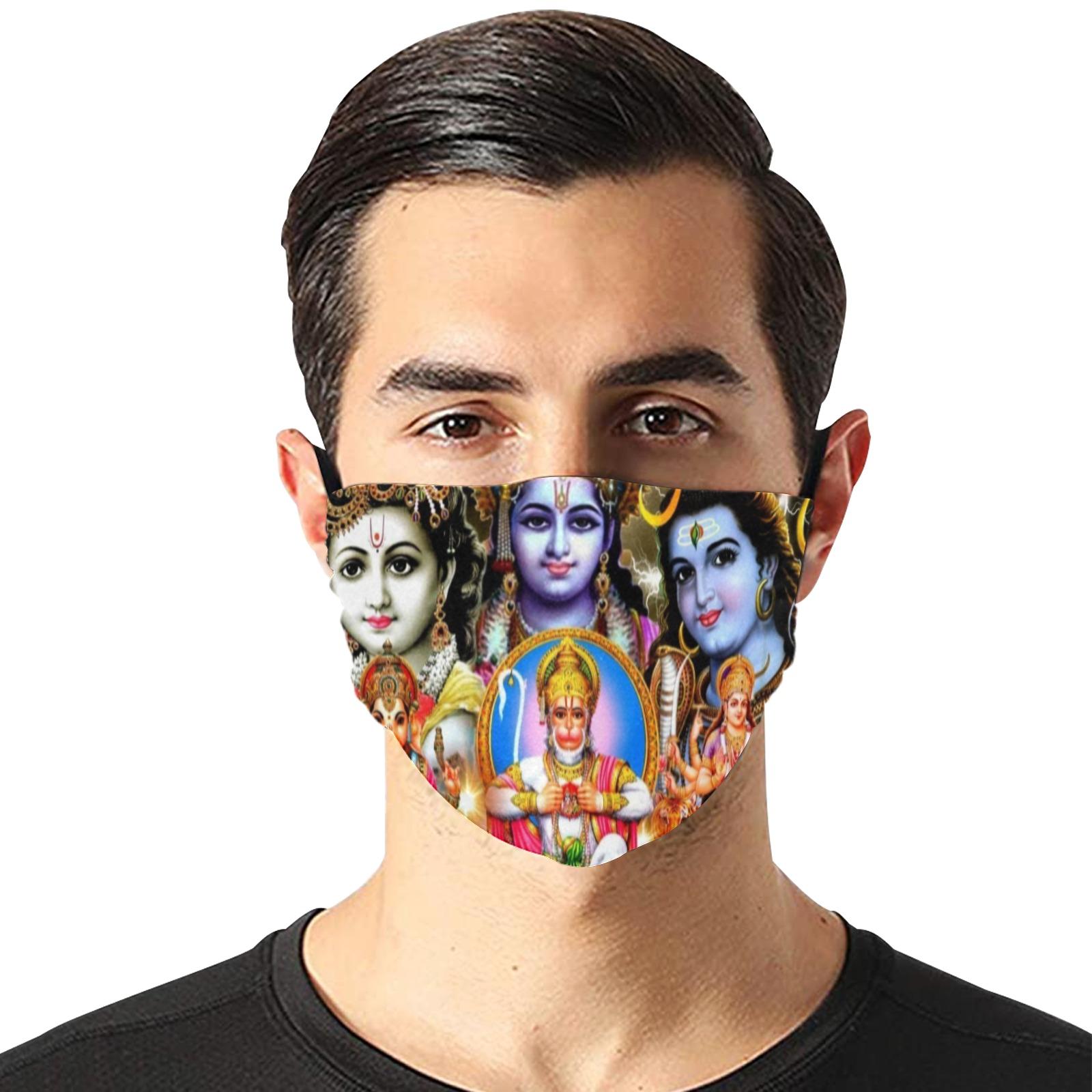 HINDUISM Flat Mouth Mask with Drawstring