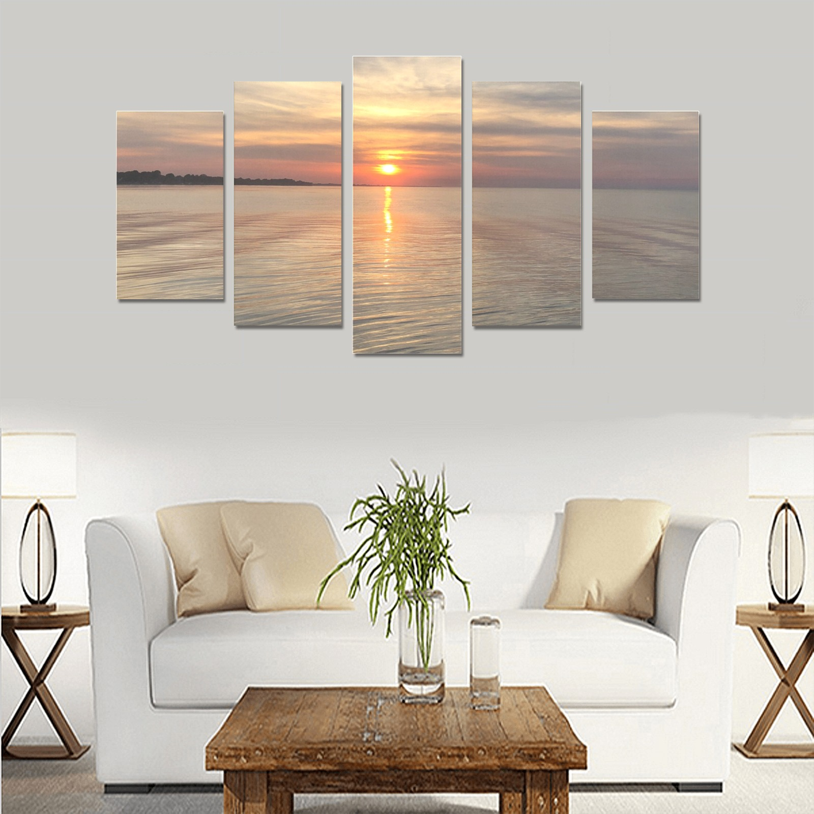 Early Sunset Collection Canvas Print Sets A (No Frame)