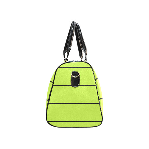 Sushi lines on lime. New Waterproof Travel Bag/Small (Model 1639)