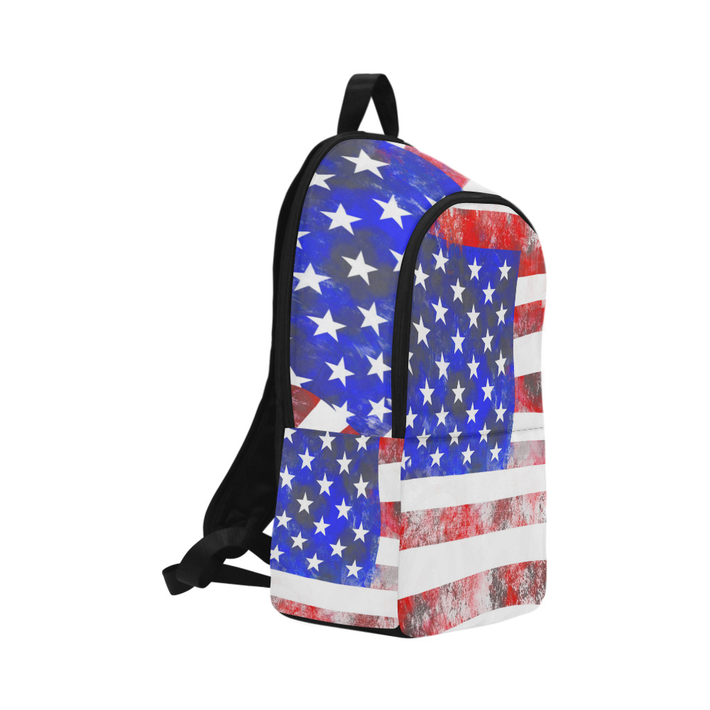 Extreme Grunge American Flag of the USA Fabric Backpack for Adult (Model 1659)