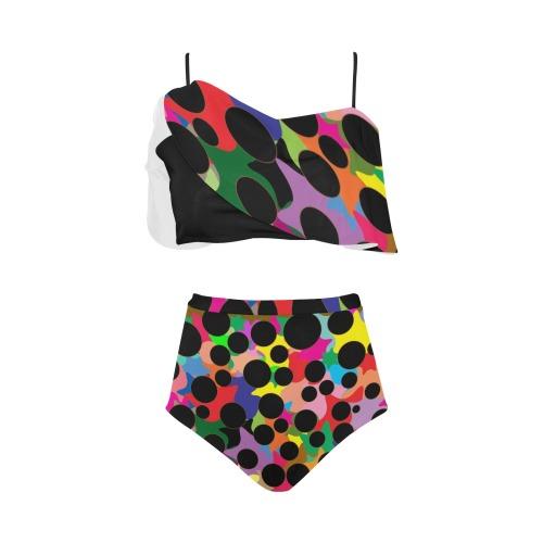 black holesbrn High Waisted Ruffle Bikini Set (Model S13)