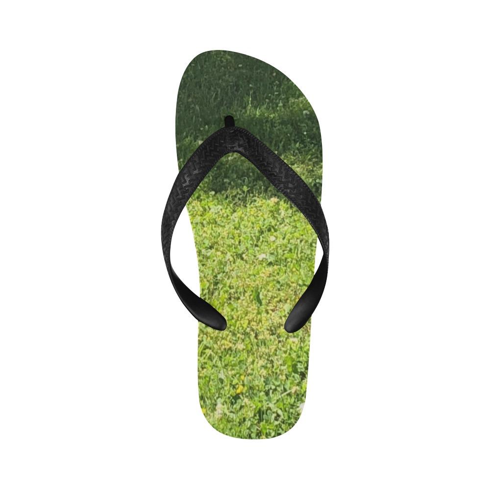 Fresh Grreeen Grass Collection Flip Flops for Men/Women (Model 040)