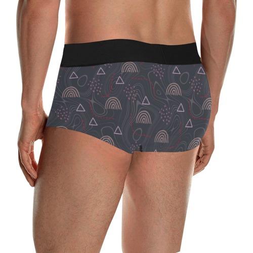 Rainbow, doodles Men's All Over Print Boxer Briefs/Short Size (Model L22)