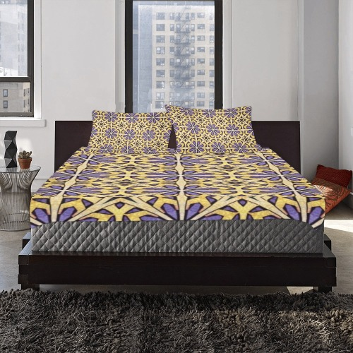 Gorgeous Mandala Floral in Earth Tones 3-Piece Bedding Set