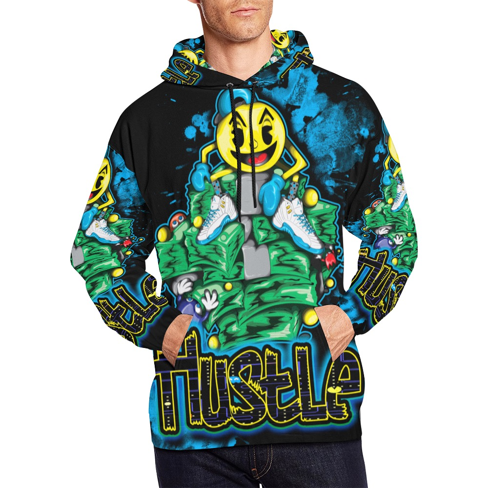 male hustle hoodie All Over Print Hoodie for Men (USA Size) (Model H13)