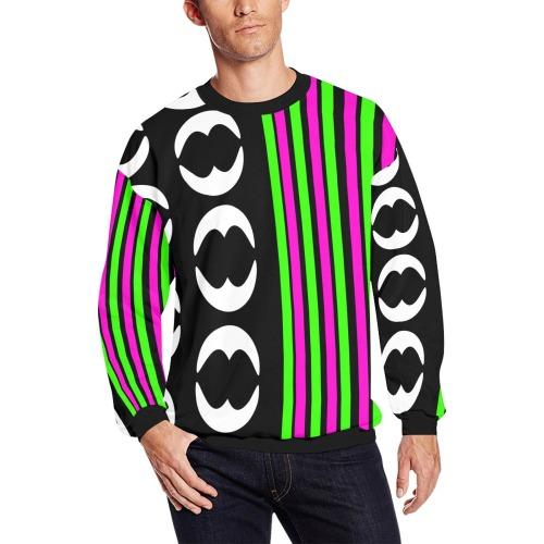eccentric Men's Oversized Fleece Crew Sweatshirt (Model H18)