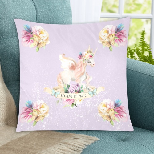 """Unicorn 4 Custom Zippered Pillow Cases 20""""x20"""" (Two Sides)"""