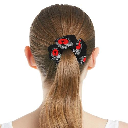 CHK Black All Over Print Hair Scrunchie