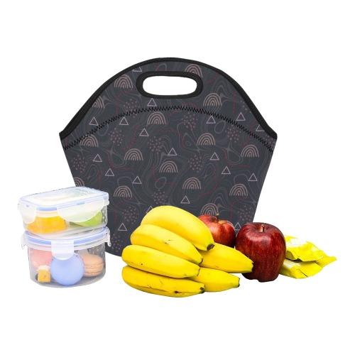 Rainbow, doodles Neoprene Lunch Bag/Small (Model 1669)