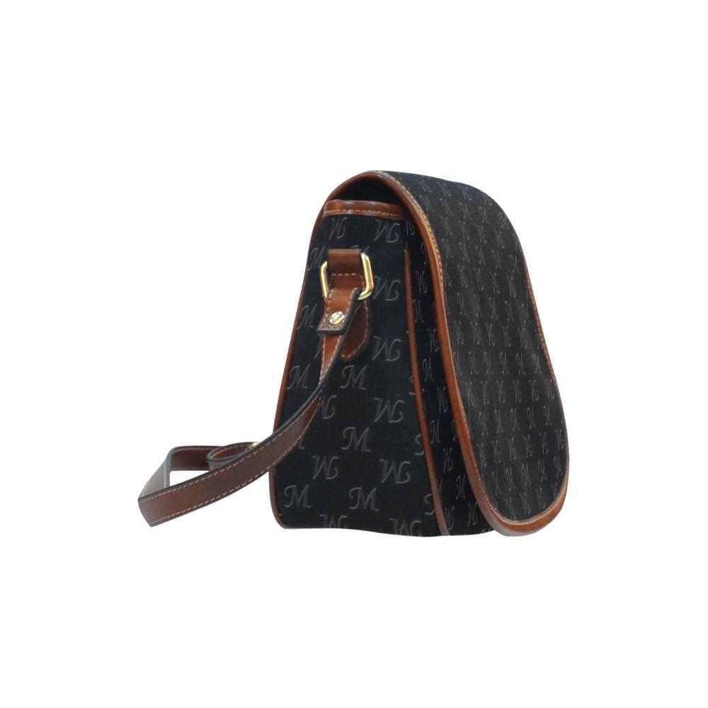 Mud-di Signature Upsidedown Black Saddle Bag/Large (Model 1649)