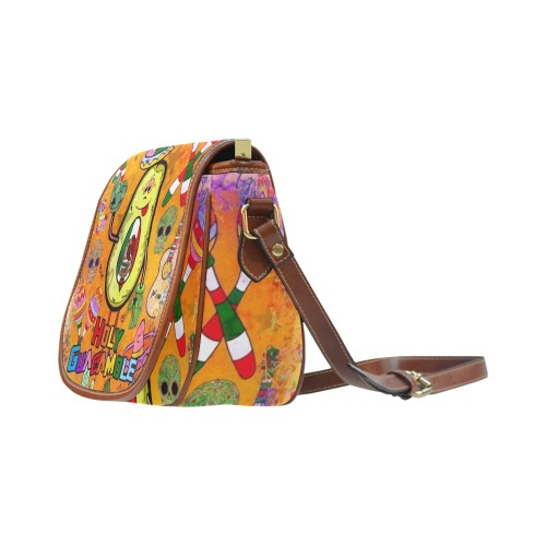 Holy Guacamole by Nico Bielow Saddle Bag/Large (Model 1649)