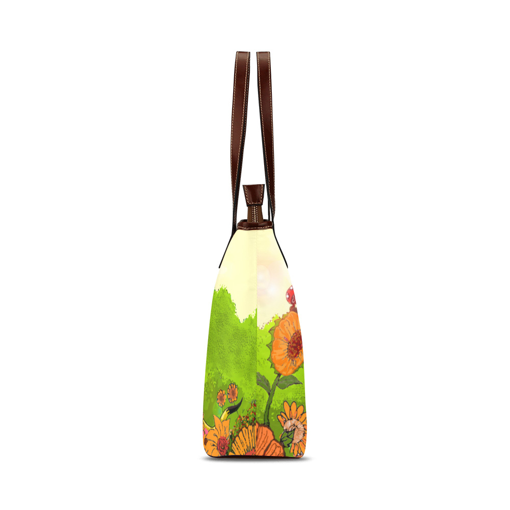 Ferald and Mizz Ladybug Shoulder Tote Bag (Model 1646)
