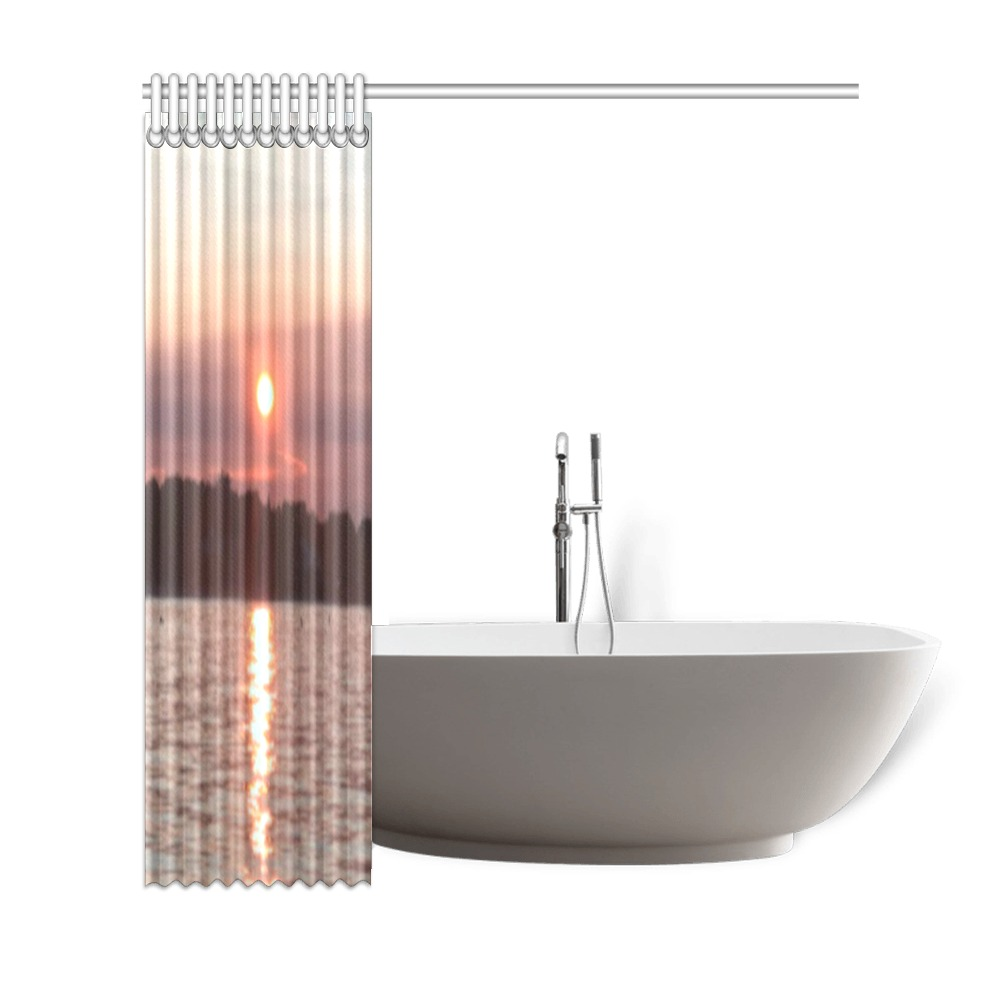 """Glazed Sunset Collection Shower Curtain 69""""x72"""""""