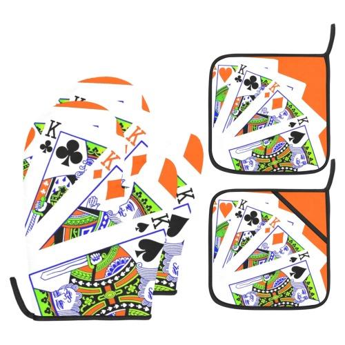 FOUR KINGS (2) Oven Mitt & Pot Holder