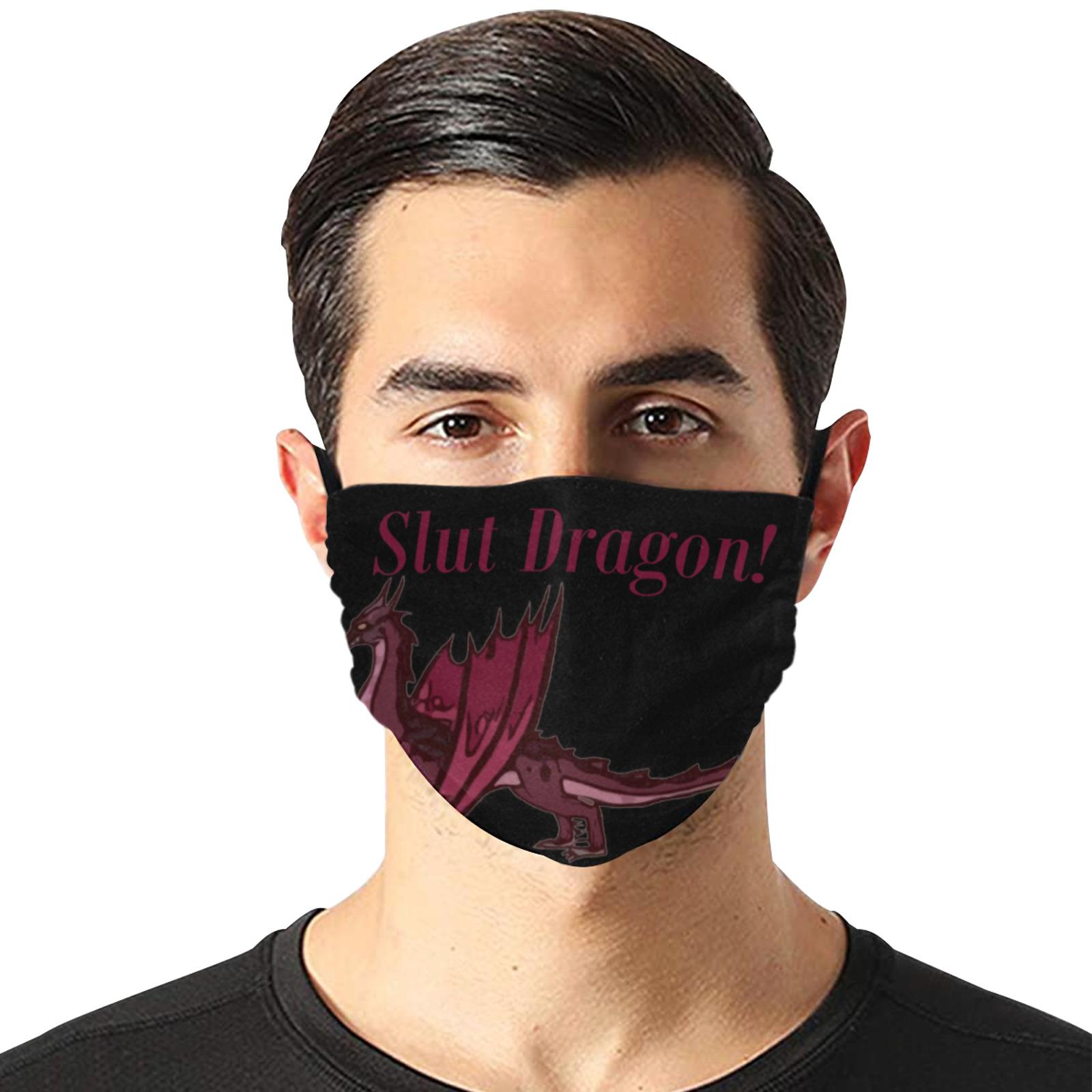 Slut Dragon Flat Mouth Mask with Drawstring